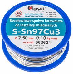 Купить Припой TOPEX 97% Sn, 3% Cu, 2.5 мм, 100 г 44E742