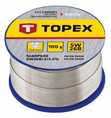 Купить Припой олово TOPEX 60% Sn 100 г 44E522