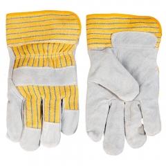 Купить Перчатки Topex рабочие серый спилок размер 10.5