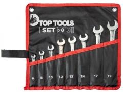 Купить Набор ключей комбинированных TopTools 6-19 мм 8шт