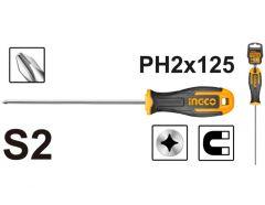 Купить Отвертка крестовая INGCO HS68PH2125 S2 PH 2х125 мм