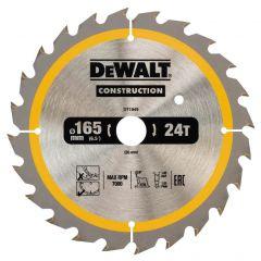 Купить Диск пильный DeWALT DT1949 165х20 мм 24z