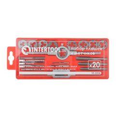 Купить Набор плашек Intertool SD-8020 M3-M12 20 ед