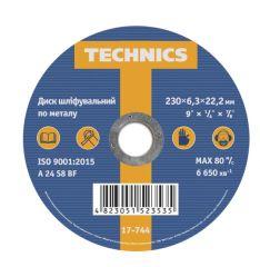 Купити Диск шліфувальний пометалу Technics 17-744 230х6,3х22