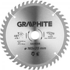 Купить Диск пильный GRAPHITE, 165x20 мм, 48 зубов