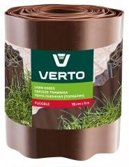 Купить Лента газонная VERTO 15G514 15 cm x 9 m коричневая