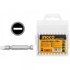 Купить Биты INGCO SDB11SL423 S2 SL6*1.0х50 мм 10 шт