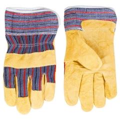 Купить Перчатки Topex рабочие желтый спилок размер 10.5