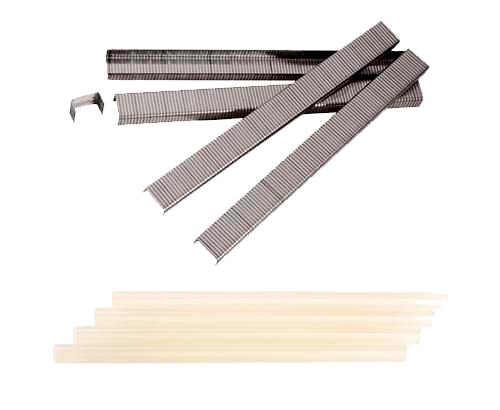Скобы и термоклей