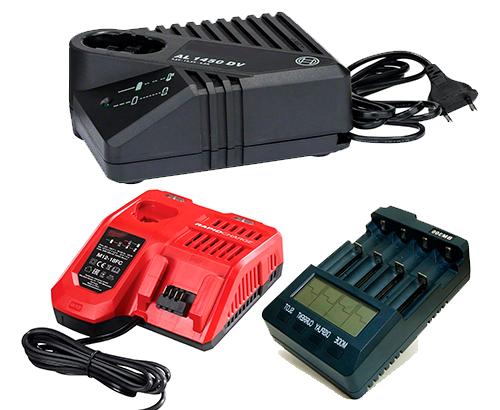 Зарядні пристрої для електроінструментів