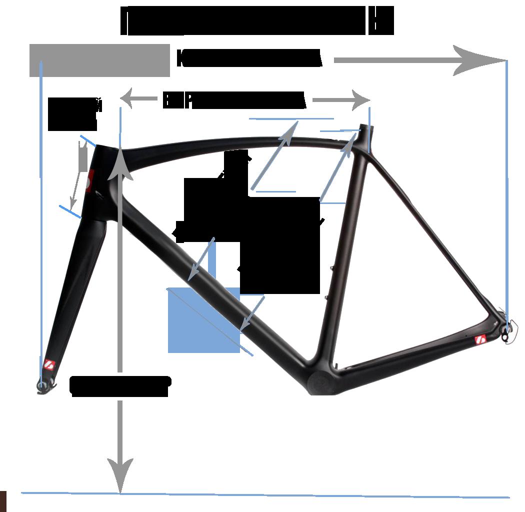 Схема рамы велосипеда